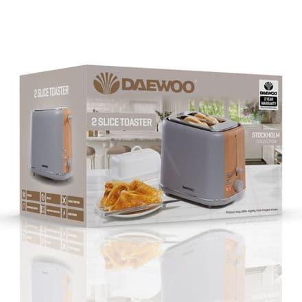 Daewoo Stockholm Toaster - 2 Slice Grey